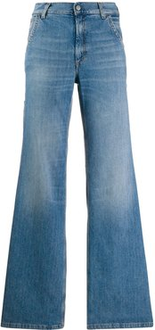 faded flared jeans - Blue