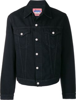 boxy denim jacket - Black