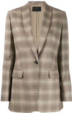 checked suit jacket - Neutrals