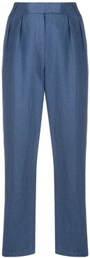 tapered leg trousers - Blue