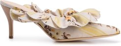 frilled mules - Yellow