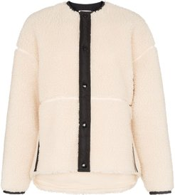 button-down long-sleeve jacket - White