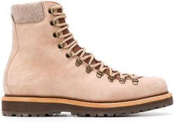 lace-up work boots - NEUTRALS