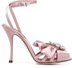 embellished open-toe sandals - Pink
