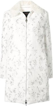 embroidered floral jacet - White