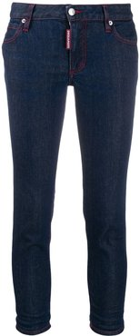 skinny cropped jeans - Blue