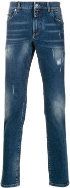 distressed details denim - Blue