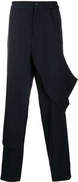 deconstructed trousers - Blue