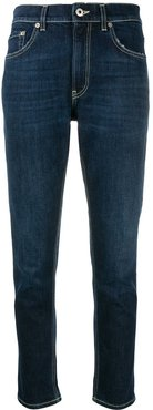 low-rise cropped jeans - Blue