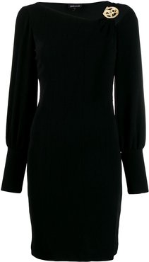stretch mini dress - Black