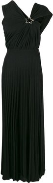pleated maxi dress - Black