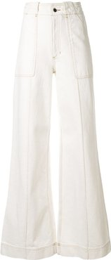 ivette high-waisted trousers - White