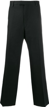 straight tailored trousers - Black