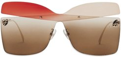 Kaligraphy sunglasses - Brown