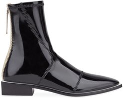 patent leather ankle boots - NEUTRALS