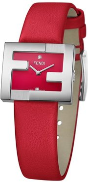 FF logo embellished watch - Red