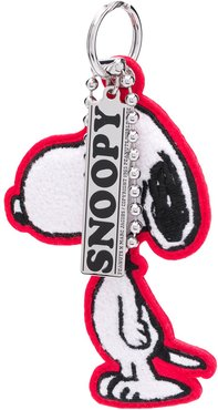 Snoopy Chenille bag charm - White
