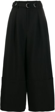 high-waist belted side trousers
