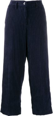 cropped length trousers - Blue