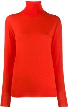 loose fit polo neck - Red