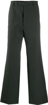 striped straight-leg trousers - Grey