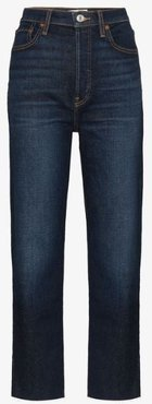 stove pipe high waist jeans
