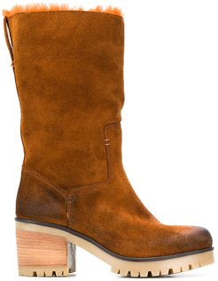 heeled ankle boots - Brown