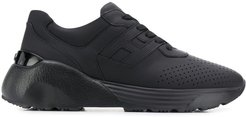 chunky sole sneakers - Black