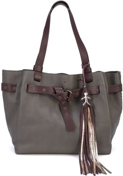 tassel tote bag - Grey