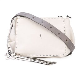 tassel cross-body bag - White