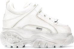 chunky platform sneakers - White