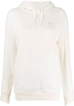 panelled hoodie - White