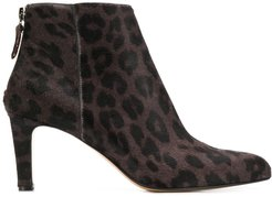 leopard print booties - Brown