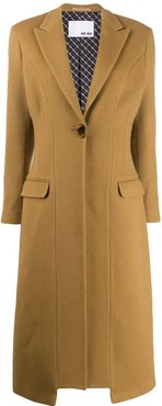 Re-sculpted tailored coat - Brown