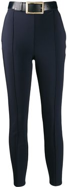 cropped skinny-fit trousers - Blue