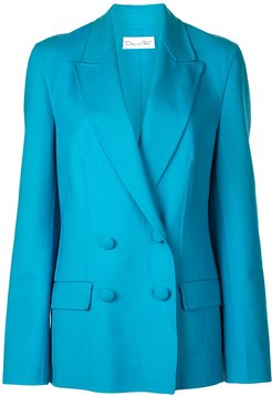 double breasted blazer - Blue