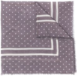 dotted cashmere scarf - Grey