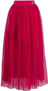 high waisted tulle skirt - PINK