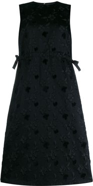 floral shift dress - Black