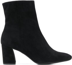 pointed mid-heel boots - Black