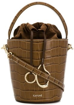 mini basket bucket - Brown