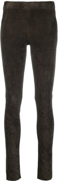 leather skinny trousers - Grey