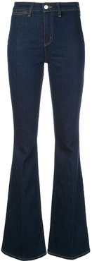 high-waisted flared jeans - Blue