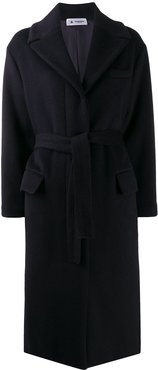 Olimpia belted mid-length coat - Blue