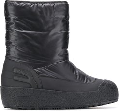 fur-lined boots - Black