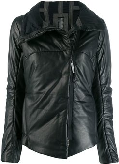 back zip down jacket - Black