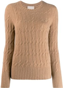 cable-knit sweater - Neutrals