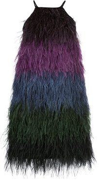 Ivy ombre ostrich feather dress - Multicolour
