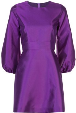 Daphne flared cocktail dress - PURPLE
