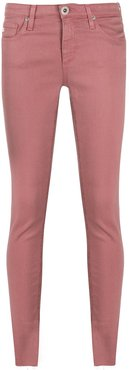 mid-rise skinny jeans - PINK